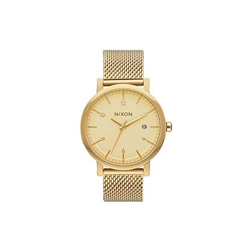 Nixon Damen Analog Quarz Uhr mit Edelstahl beschichtet Armband A1087502-00