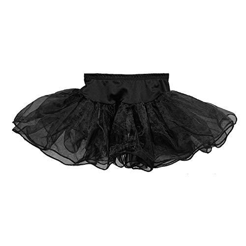 Vestido macio para meninas e crianças de tutu vintage Crinoline, Preto, Baby