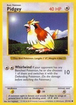 Pokémon Pidgey 57//102 Base Set COMMON Card