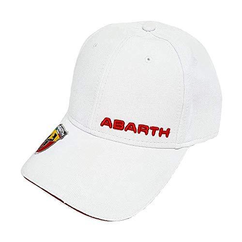 Abarth weißer Hut mit gebogenem Visier