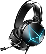 PeohZarr Gaming Headset with Microphone, PC Gaming Headset with Noise Cancelling Microphone, Xbox One Headset with Soft Earmuffs, PS4 Headset with Mic, PS5 Headset with LED Lights