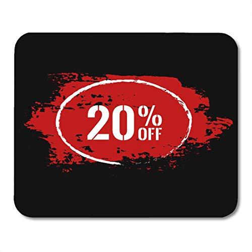 Das Mauspad, 20 Prozent Rabatt auf den Verkauf Sonderangebot Etikett Moderne rote und weiße Aufkleber Farbe Pinselstrich Preis Gummi Mauspad Matte Für Laptop Matte Kinder,18x22cm