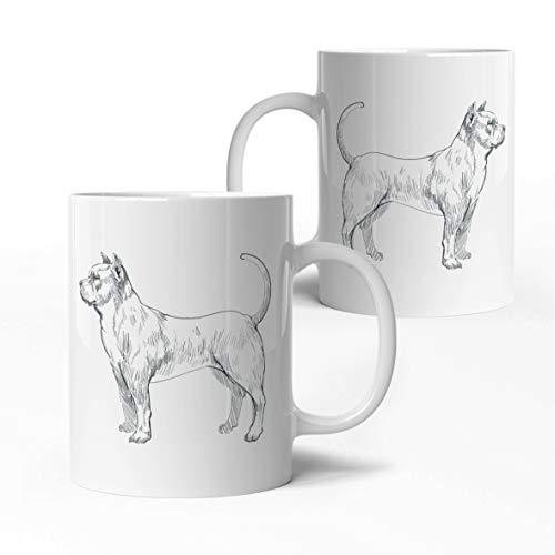 tassenprinter Pitbull Hunde Tasse - Hunderasse Tasse - weiß 300ml Keramik Kaffee-Tasse - Hunde Geschenk-Idee Geburtstag - edel & schlicht - spülmaschinen- & mikrowellengeeignet (22-Pitbull)