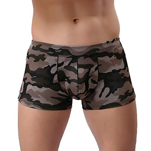 Willlly Vovotrade Populaire Mannen Nner Camouflage Chic Casual Onder adem Opwarming Ze Briefs Bulge Pouch Shorts Onderbroek