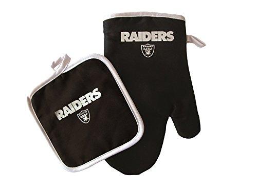 Pro Specialties Group NFL Oakland Raiders Oven Mitt and Pot Holder Set