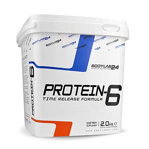 Bodylab24 Protein-6 2kg | Mehrkomponenten Protein-Pulver, Eiweißpulver aus 6 hochwertigen Eiweiß-Quellen | Protein-Shake für Muskelaufbau | Vanille