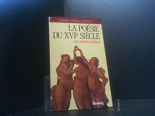 DUBOIS/POESIE 16EME ETL (Ancienne Edition)