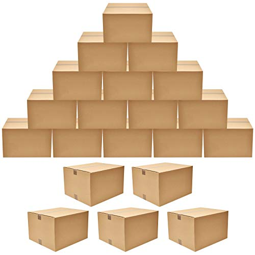 20 Pack Corrugated Boxes Mailers Kraft Cardboard Shipping Boxes, Small Packing Kraft Moving Mailing Boxes 8 x 4 x 5.5 inch