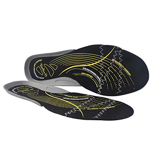 TIESTRA Anti-Static Insoles for Men Anti-Static Shoe Inserts for Shoes Safety Work in Oil Refinery Power Plant Clean Workshop Replacement Mens Arch Support Flat Insoles Black Men US12