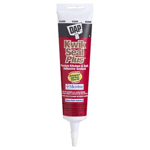 Dap 18546 Kwik Seal Plus Kitchen and Bath All-Purpose Adhesive Caulk Clear, 5.5-Ounce