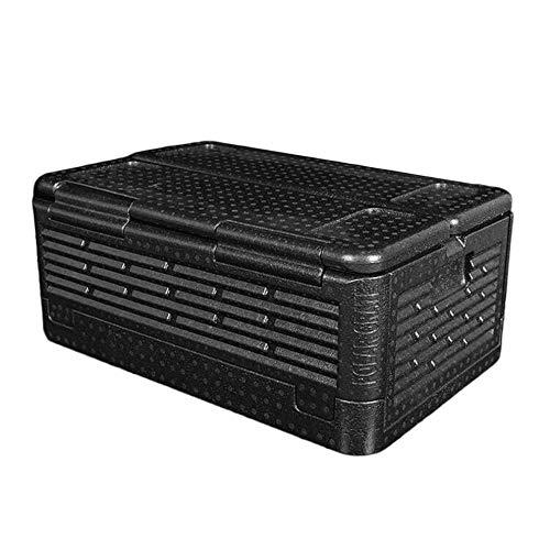 QiKun-Home 35L Tamaño Portátil Coche Refrigerador Auto Interior Refrigerador Bebida Refrigerador Alimentos Calentador Caja para Coche Camping al Aire Libre Picnic Negro