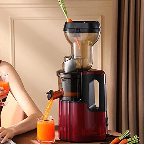Licuadora Prensado en Frio,Slow Juicer, Extractor de zumos, Licuadora Prensado en Frío. Licuadora Slow Juicer exprimidor de frutas verduras silenciosa/B