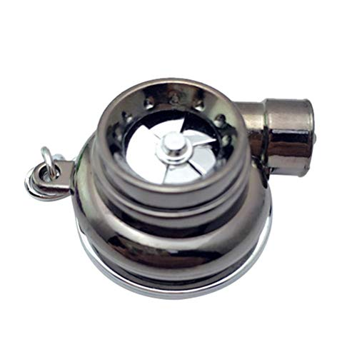Dan&Dre Mini Turbo - Llavero turbocompresor, turbina giratoria, llavero para coche, accesorios para el interior del coche