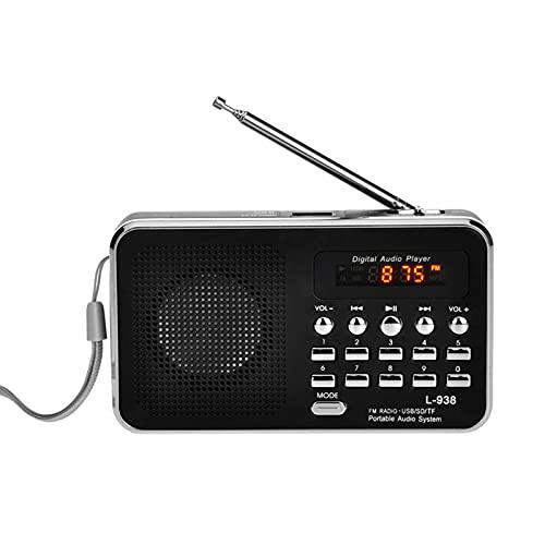 Staright L-938 Mini Radio FM Portátil Digital 3W Altavoz Estéreo Reproductor de o MP3 Calidad de Sonido de Alta Fidad w/Pantalla de 1,5 Pulgadas Soporte de Pantalla Unidad USB TF SD Tarjeta MMC