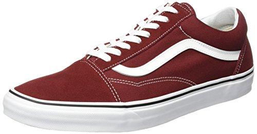 Vans Old Skool, Sneaker Unisex – Adulto, Rosso (Madder Brown/True White), 38 EU