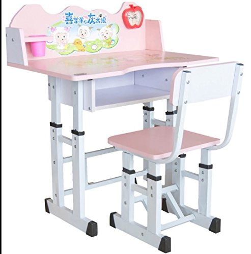Study Table & Chair Set for Kids Pink Desk for Girls