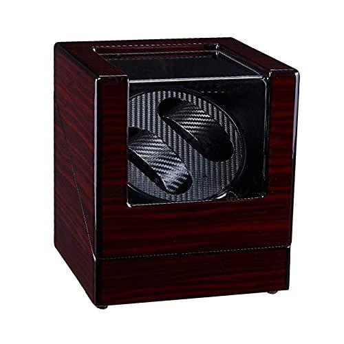 WBJLG Avvolgitore Automatico per Doppio Orologio Scatola per Conchiglia in Legno Vernice per Pianoforte Esterno Motore Silenzioso per Orologio da Polso da Uomo e da Donna