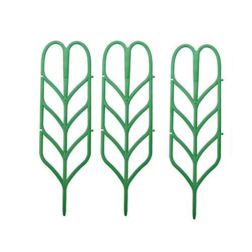 Dragonaur Lot de 3 supports en plastique pour plantes grimpantes Vert