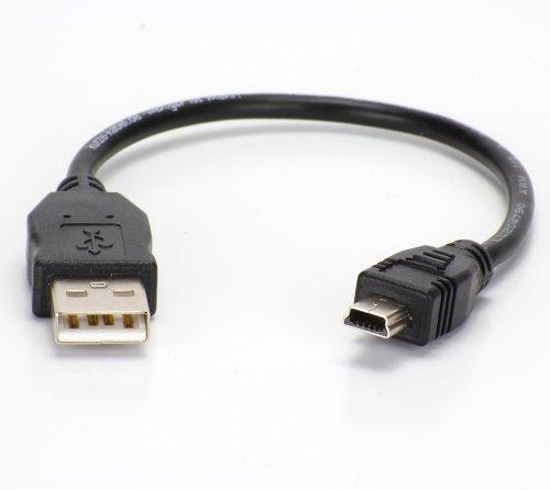 20cm kurzes USB Kabel (A auf Mini-B) Datenkabel | Ladekabel | Sync-Kabel. ideal auf Reisen oder im Auto