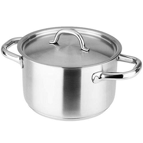 L.TSN Pot à ragoût Pot de Cuisson - Fond Composite en Acier Inoxydable 304 pour Toutes Les Sources de Chaleur Diamètre 24 cm (Couleur: Taille A: Diamètre 24 cm)