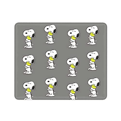 ZVEZVI Snoopy Covered with Gray Background Alfombrilla de ratón Antideslizante con Base de Goma Ecológica,Lavable y cómoda 9.8x11.8 Pulgadas