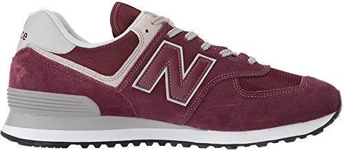 New Balance 574v2 Core', Sneaker Uomo, Sintetico, Rosso (Burgundy), 42.5 EU