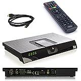 netshop 25 Set: Xoro HRT 8720 DVB-T2 Receiver (6 Monate FREENET TV Gratis) + HDMI Kabel, HDTV, PVR Ready, USB TV Aufnahme und Mediaplayer, schwarz