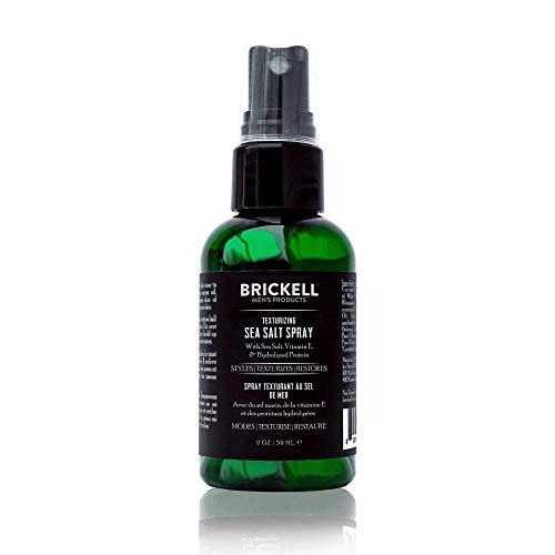 Brickell Men's Texturizing Sea Salt Spray - Natürlich & organisch - Alkoholfrei - Männer Texturspray für mehr Volumen und den ultimativen Surfer und Beachlook - Salzspray für Haare (2 Ounce)