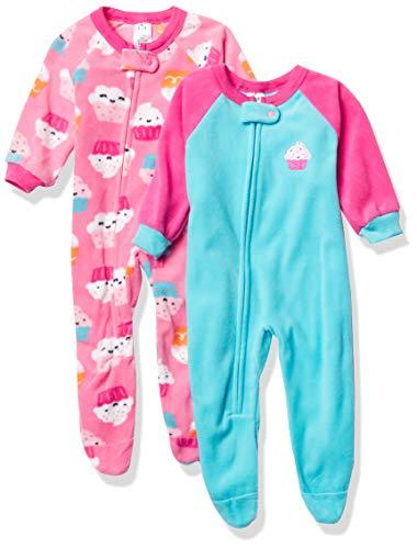 Gerber Baby Girls' 2-Pack Blanket Sleeper, Cupcakes Pink, 24 Months