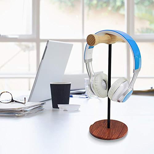 Fancylande Universele houder voor koptelefoon van hout - innovatieve hoofdtelefoonhouder van massief hout op het hoofd gemonteerd, displayhouder voor koptelefoon pleasure