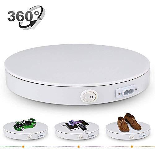 Piattaforma professionale girevole di 360 gradi, Diametro di 40cm Piatto girevole rotante elettrico bianco utilizzabile come base per fare foto, video -40kg capacita bianca