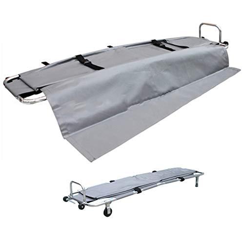 Chang Krankentrage 2 X Klappbar Medizinische Krankentrage Tragbare Erste-Hilfe-Rettungstransport Aluminiumlegierungs Trage Für Die Evakuierung Feuerwehrleuten Patiententransport