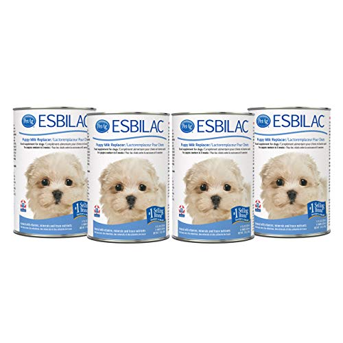 PetAg Esbilac Puppy Milk Replacer Liquid for Newborn to Six Weeks - Highly Palatable - 11 fl oz - 4 Pack