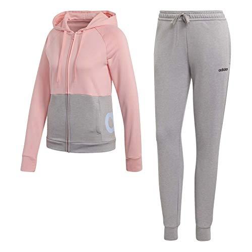 adidas Damen WTS Lin FT Hood Sportoutfit, Rosglo/Brgrin, M