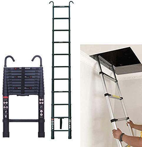 3.2M 10.5FT Aluminum Telescopic Attic Ladder for Home Loft Ladder with...