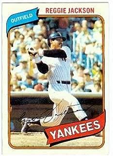 1980 reggie jackson baseball card