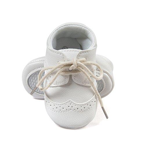 Zapatos sneakers para bebés, de cuero sintético blanco blanco Talla:12-18 meses