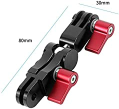 RONSHIN 360 Degree Rotation Mounts Adapters Helmet Adapters Mounts for Gopro DJI Osmo Action XIAOMI EKEN Action Camera red