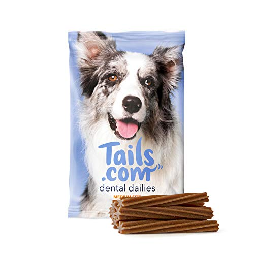tails Dental Dailies – Daily Dental & Gum Care Sticks, Healthy Delicious Dog Treats For Medium Dog Breeds, Chicken Flavour, 70 Calories Per Stick, 10 Pack (10 x 180g, 7 Sticks Per Pack)