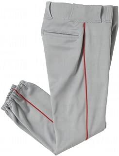 Authentic Sports Shop Youth Side Seam Piping Baseball/Softball Pants (White, Grey Pants. Black, Navy, Royal, Red Piping)