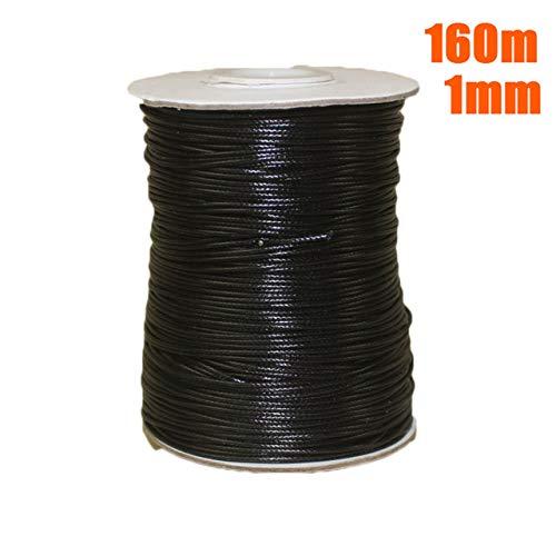 Hilo para la fabricación de Pulseras 80M / 160M Hilo de Cuerda de cordón Encerado Coreano 2mm / 1mm para Pulsera Collar Craft DIY, C