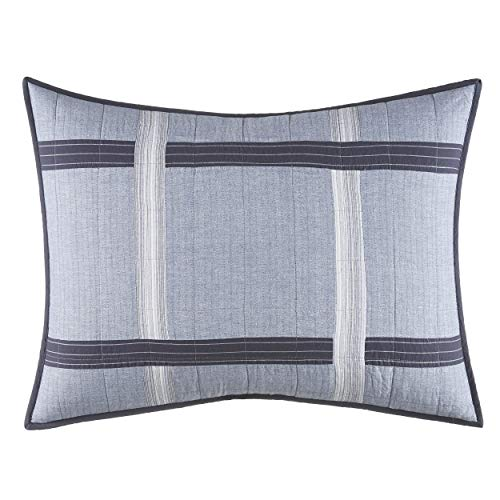 Nautica River Breeze, Standard Sham, Medium Grey