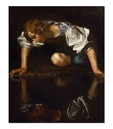 ART ALPHA - Kunstdruck - Michelangelo Merisi da Caravaggio - Narcissus Poster (91 x 110 cm)