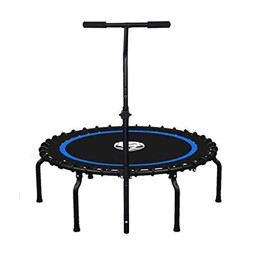 HHOO THS@ Fitness Trampoline Outdoor Indoor Jumping Mat voor Volwassenen Kinderen Beginners Aerobic Bouncer Workout Cardio Trainer Max Load 550lbs Zwart 06