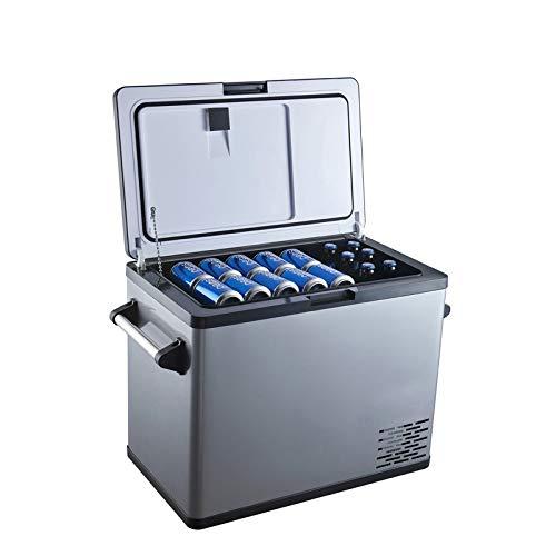 Car Refrigerator 54 Quart Car Cooler -4℉~68℉ 12 Volt Refrigerator with 12/24V DC and 110-220V AC Adapter, Portable Refrigerator for Car Camping and Truck RV Home