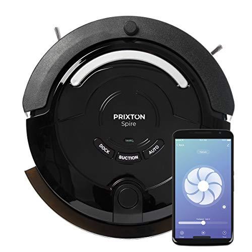 PRIXTON Spire 916 Robotica Stofzuiger/Schrobzuigrobots, met Mobiele App, Programmeerbaar, voor Droge en Natte Vloer met 3 Schoonmaakmodi/Automatisch, Hoek, Diep