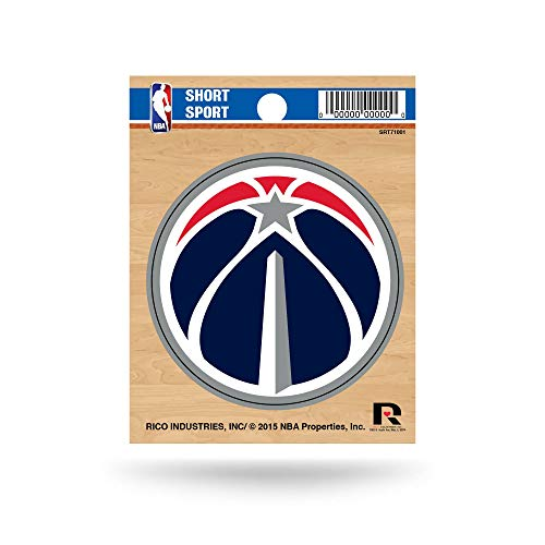NBA Rico Industries Die Cut Team Logo Short Sport Sticker, Washington Wizards