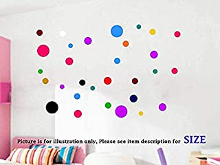 Polka Dot Wall Stickers 26 pieces, Multi size dot Removable Vinyl Wall Decals, Circle Wall Decals, Kid's Room Decor, Girls Bedroom Decor, Nursery Room Vinyl Wall Stickers