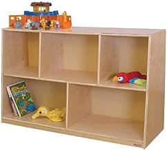 Wood Designs Kids Play Toy Book Plywood Organizer Wd13080 Tip-Me-Not 30H Storage by Wood Designs