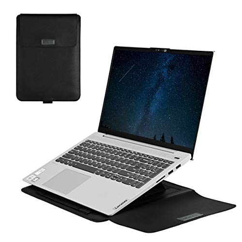 13 Inch Laptop Sleeve Bag with Stand Function 3 in 1,Suitable for 13.3 inches MacBook Air 2018/2019/2020 and 13.3 inches MacBook Pro 2016/2017/2018/2019/2020(Black)